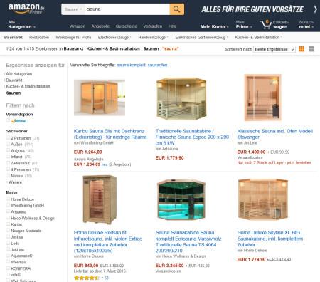 sauna online Baumarkt
